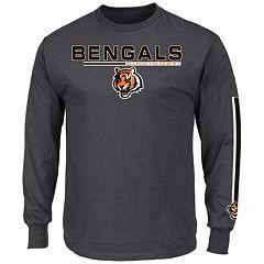 Men's Majestic Cincinnati Bengals Primary Receiver Long-Sleeve Tee