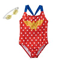 Girls 4-6x Wonder Woman Racerback One-Piece Swimsuit