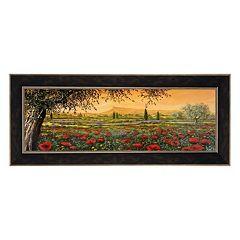 Metaverse Art Pianura In Fiore II Framed Canvas Wall Art