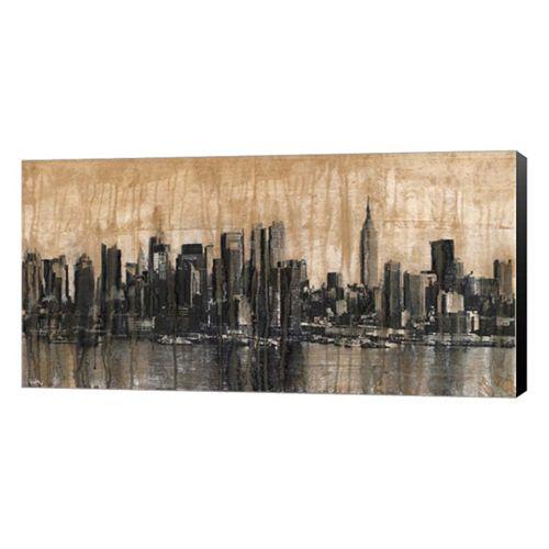 Metaverse Art NYC Skyline 1 Canvas Wall Art