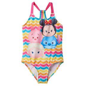 Disney's Tsum Tsum Minnie Mouse, Elsa & Piglet Girls 4-6x One-Piece Swimsuit