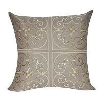 Loom and Mill Embroidered Floral Scroll Throw Pillow