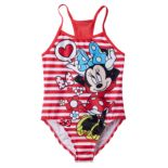 Disney's Minnie Mouse Girls 4-6x Striped One-Piece Swimsuit
