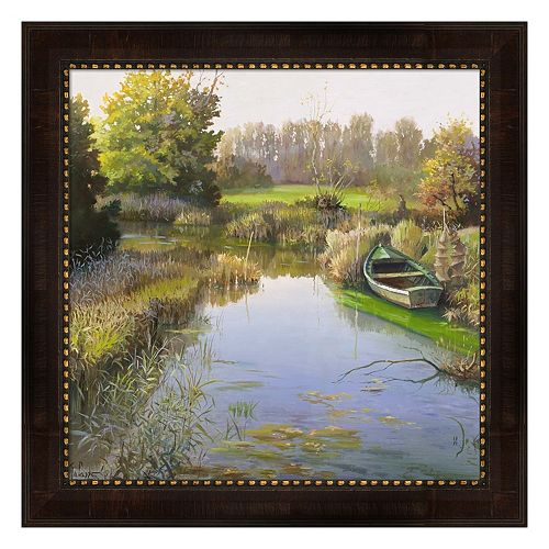 Metaverse Art Sul Fiume Framed Canvas Wall Art