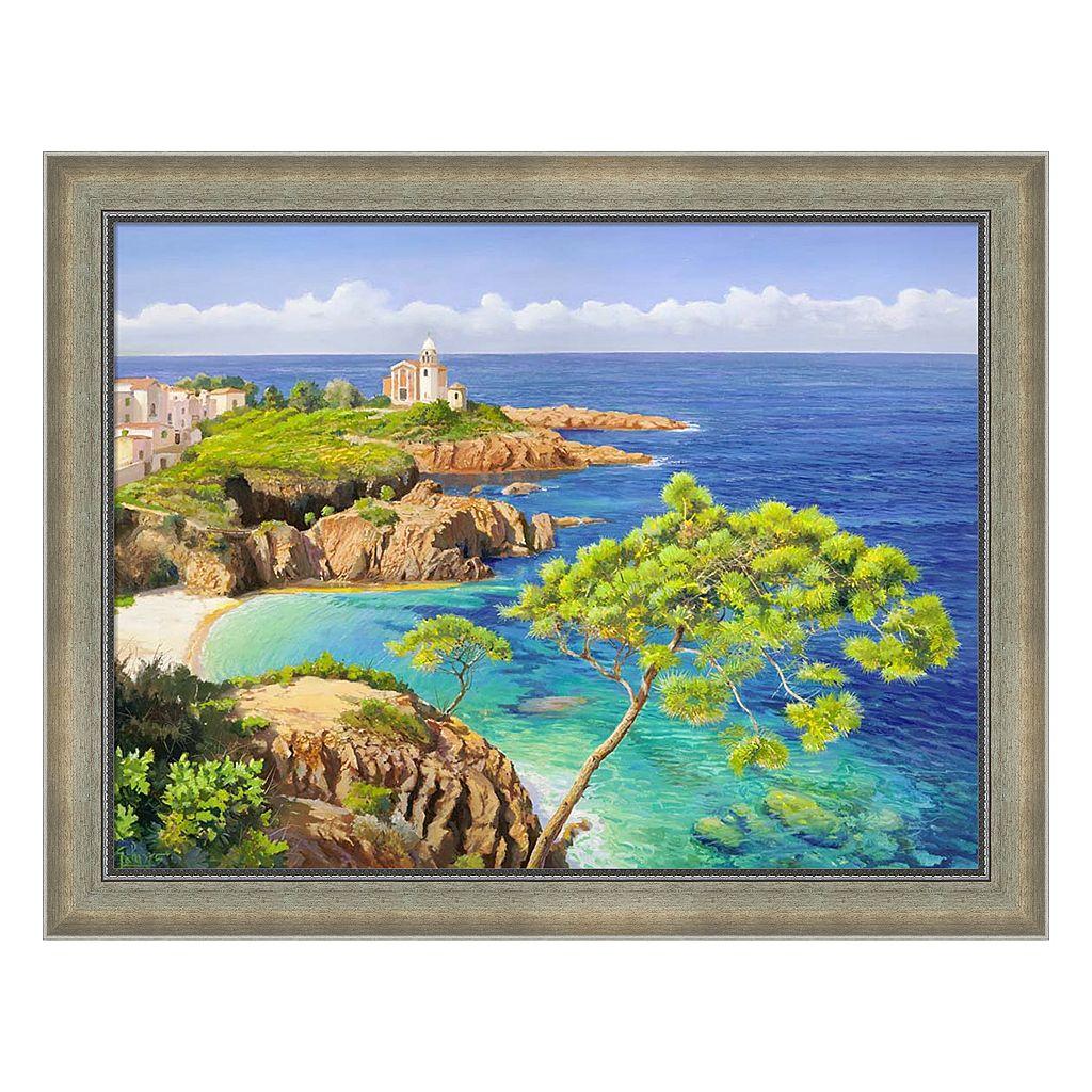 Metaverse Art Costa Del Mediterraneo Framed Canvas Wall Art