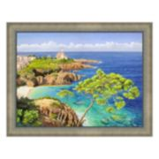 Metaverse Art Costa Del Mediterraneo Framed Canvas Wall Art