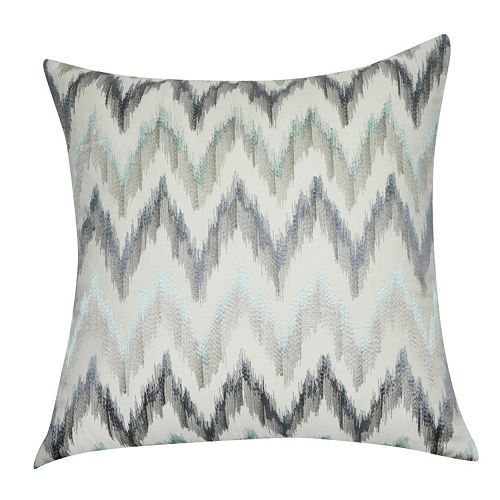 Loom and Mill Blue Chevron Throw Pillow