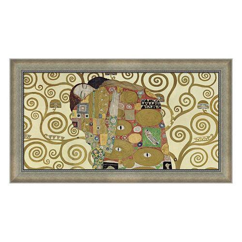 Metaverse Art The Embrace Framed Canvas Wall Art