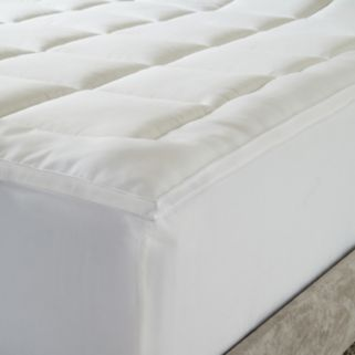 Hotel Laundry 2-Pack Microfiber Fiberbed Mattress Pad