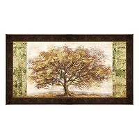 Metaverse Art Golden Tree Panel Framed Canvas Wall Art