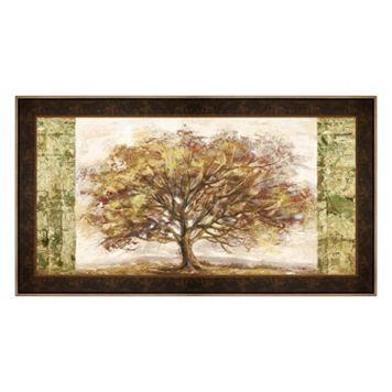 Metaverse Art Golden Tree Panel Framed Canvas Wall Art