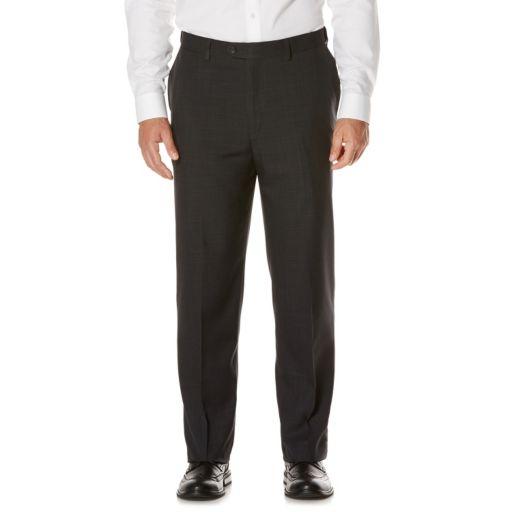 Men's Savane Active Flex Classic-Fit Flat-Front Dress Pants