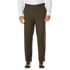 Men's Savane Active Flex Classic-Fit Flat-Front Dress Pants