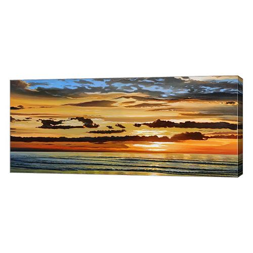 Metaverse Art Alba Sul Mare Canvas Wall Art