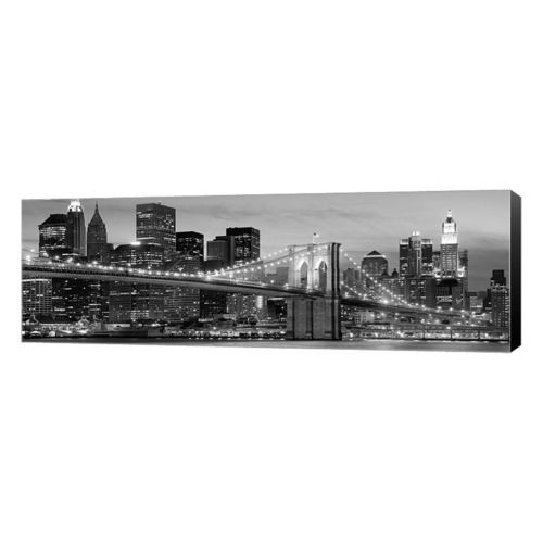 Metaverse Art Brooklyn Bridge At Night Canvas Wall Art