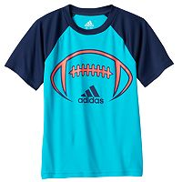 Boys 4-7x adidas climalite Colorblock Raglan Sport Tee