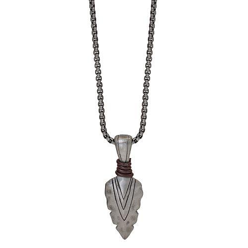 Men's Spearhead Pendant Necklace