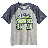 Boys 4-7x adidas climalite Raglan Basketball Tee