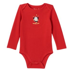 Baby Girl Jumping Beans® Embroidered Thermal Bodysuit