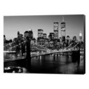 Metaverse Art Brooklyn Bridge NYC Canvas Wall Art