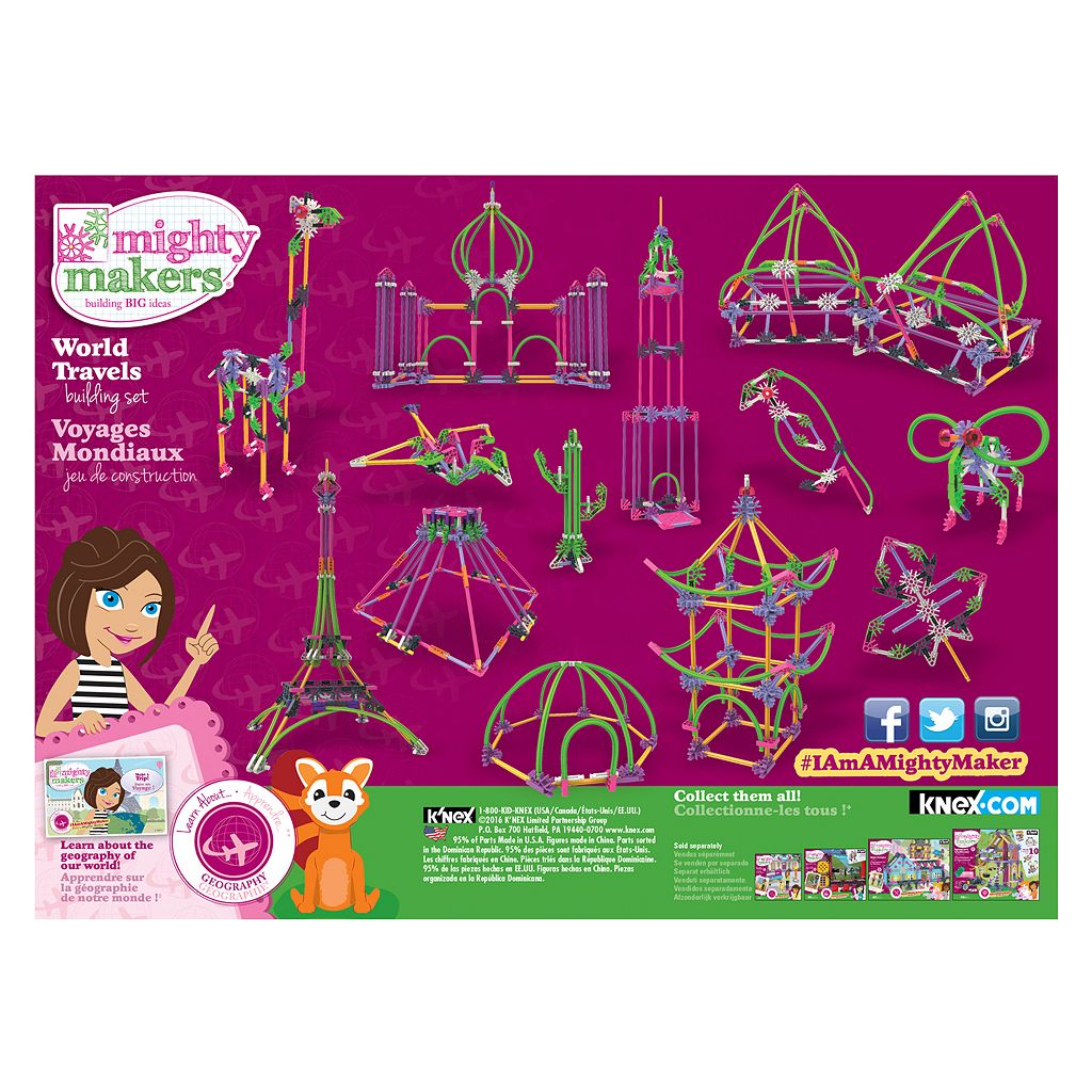 K'NEX 403-pc. Mighty Makers World Travels Building Set
