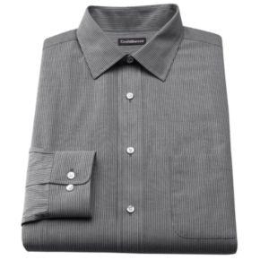 Men's Croft & Barrow® Classic-Fit Striped Broadcloth Spread-Collar Dress Shirt