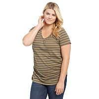 Plus Size Maternity Oh Baby by Motherhood™ Pull-Down Nursing Tee