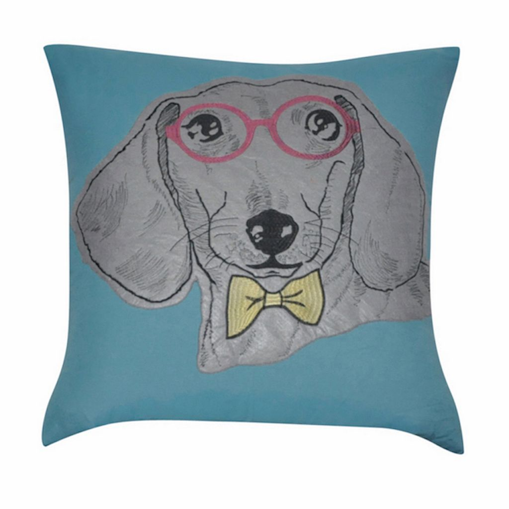 Loom and Mill Dachsund Throw Pillow
