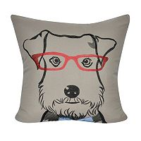 Loom and Mill Schnauzer Face II Throw Pillow