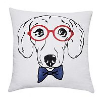 Loom and Mill Dachsund Face Throw Pillow