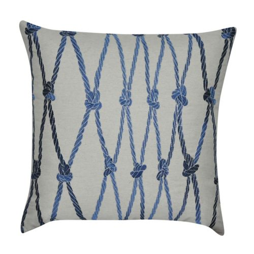 Loom and Mill Ropes Throw Pillow