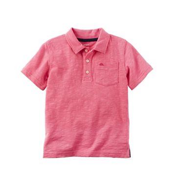 Toddler Boy Carter's Short Sleeve Chest Pocket Polo Shirt