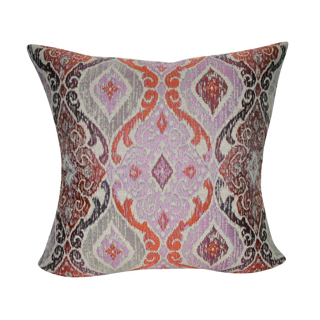 Loom and Mill Muted Damask Throw Pillow