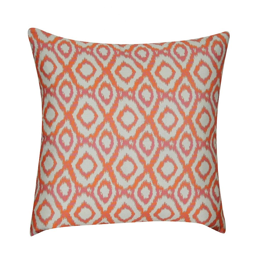 Loom and Mill Ikat Diamonds Geometric Throw Pillow