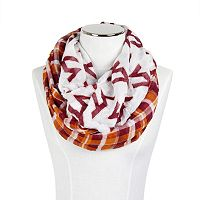 Women's ZooZatz Virginia Tech Hokies Logo Plaid Infinity Scarf