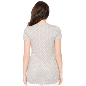 Maternity Oh Baby by Motherhood? V-Neck Ruched Tee