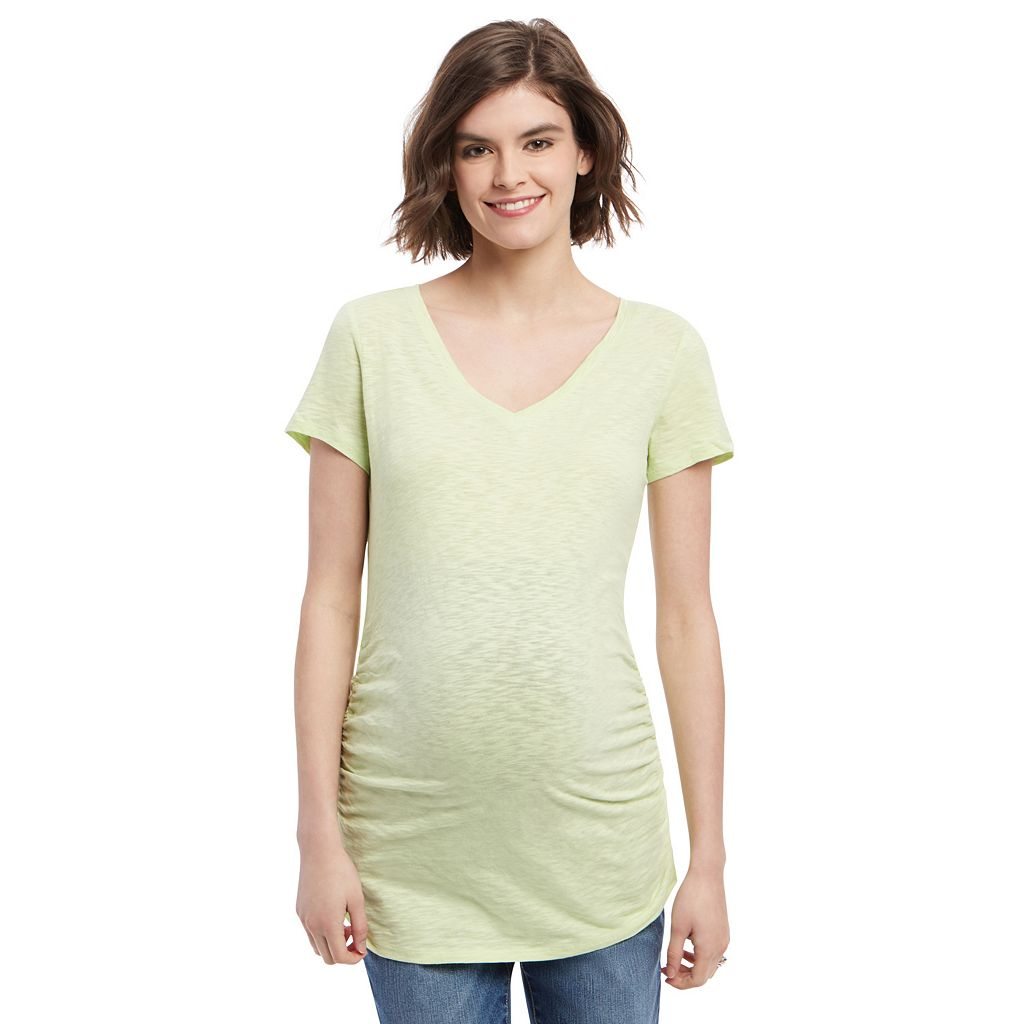 Maternity Oh Baby by Motherhood™ V-Neck Ruched Tee