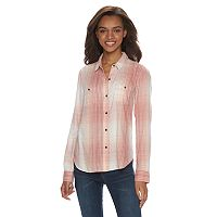 Juniors' Mudd® 2-Pocket Button Down Shirt