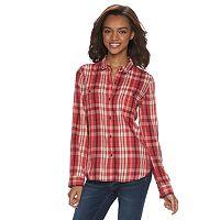 Juniors' Mudd® 2-Pocket Button Down Shirt