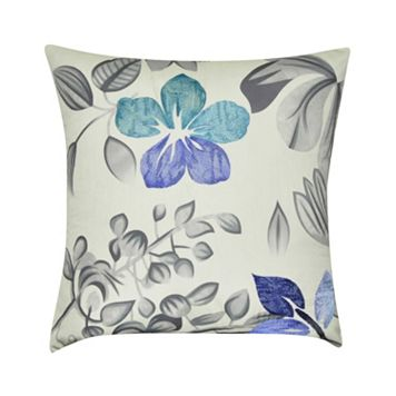 Loom and Mill Gray Floral Throw Pillow