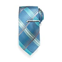 Men's Apt. 9® Greenberg Patterned Tie with Tie Bar