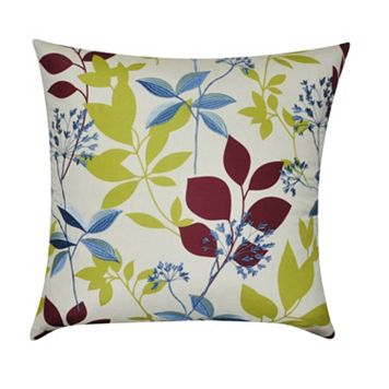 Loom and Mill Watercolor Floral Throw Pillow