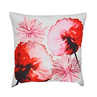 Loom and Mill Orange Floral Throw Pillow