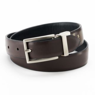 IZOD Feather-Edge Reversible Leather Belt - Boys