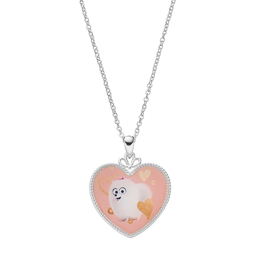 The Secret Life of Pets Kids' Silver-Plated Gidget Heart Pendant