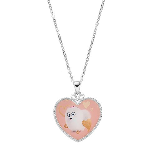 The Secret Life of Pets Kids' Silver-Plated Gidget Heart Pendant