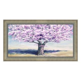 Metaverse Art Peach Tree Framed Canvas Wall Art