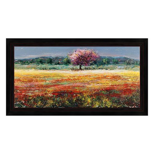 Metaverse Art L'Albero Rosa Framed Canvas Wall Art
