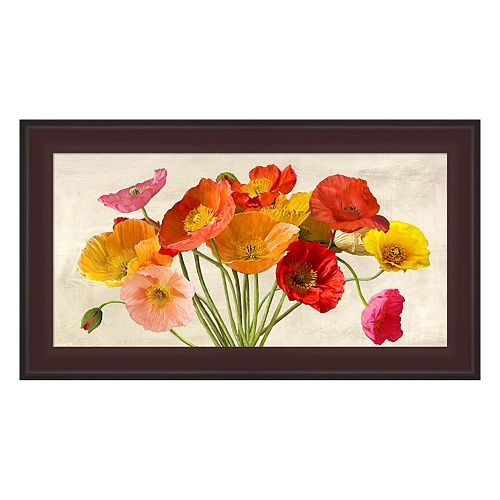 Metaverse Art Poppies In Spring Framed Canvas Wall Art