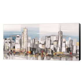 Metaverse Art Metropolis II Canvas Wall Art